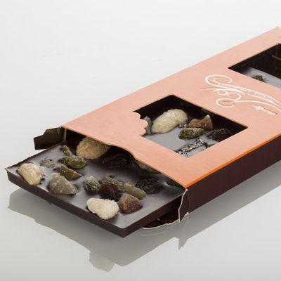 Tablette de chocolat - Mendiants noir